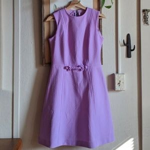 Vintage 60's lilac textured dress